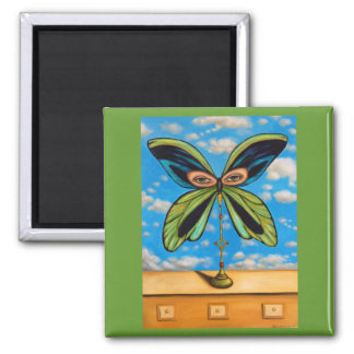 Biggest  Butterfly 2 Inch Square Magnet