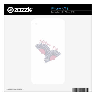 Biggest Fan iPhone 4 Decal