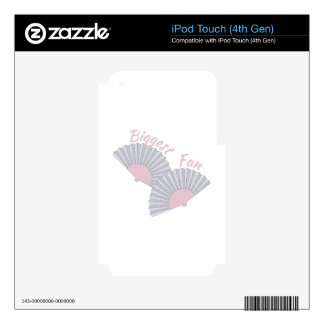 Biggest Fan iPod Touch 4G Skins