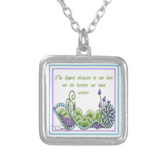 Biggest Obstacles Square Pendant Necklace