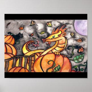 Biggest Pumpkin is mine Halloween Art Poster