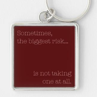 Biggest Risk Keychain