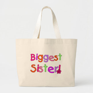 Biggest Sister T-shirts and Gifts Large Tote Bag
