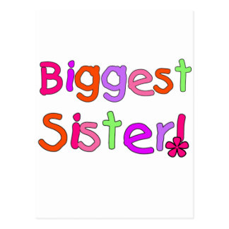 Biggest Sister T-shirts and Gifts Postcard
