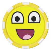 Biggest smiley face ever poker chip set