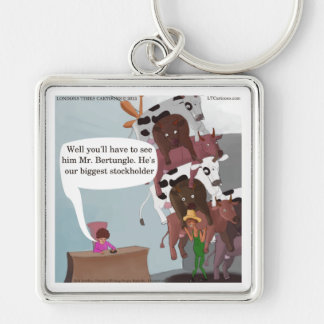Biggest Stockholder Cow Funny Keychain