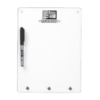 Biggest TV Football Fan! Humorous Gameologist Dry Erase Board
