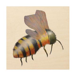 Biggie Bee Wood Art Wood Wall Art