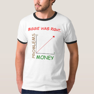 Biggie was right: Mo Money, Mo Problems. T-Shirt