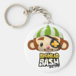 BigHead Bash Monkey Plushie Basic Round Button Keychain