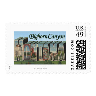 Bighorn Canyon, Montana - Large Letter Scenes Postage
