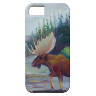 Bighorn Mountain Moose, by Sue Ann Jackson iPhone SE/5/5s Case