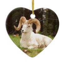 Bighorn Sheep Ceramic Ornament