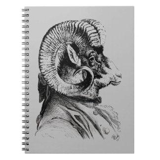 Bighorn Sheep In Suit Notebook