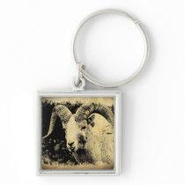 Bighorn Sheep with Attitude Keychain