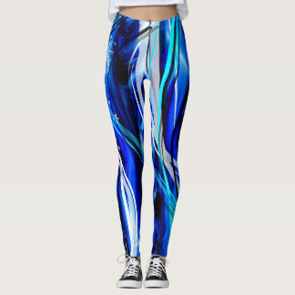Bight blue waves elegant stylish Leggings