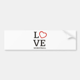bigLOVE-basketball. Bumper Sticker