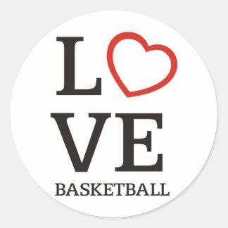bigLOVE-basketball. Pegatina Redonda