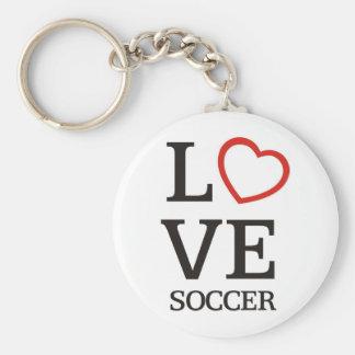 BigLOVE Soccer Basic Round Button Keychain