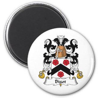 Bigot Family Crest 2 Inch Round Magnet