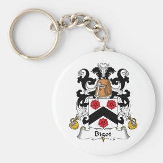 Bigot Family Crest Basic Round Button Keychain
