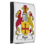 Bigot Family Crest Leather Trifold Wallets