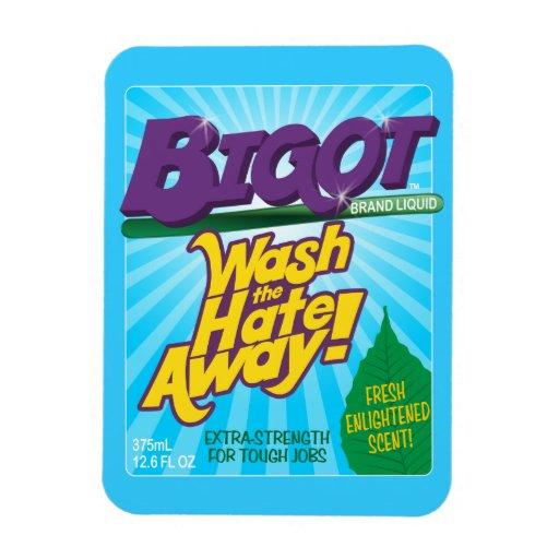 BIGOT Wash the Hate Away! [premium magnet] Rectangular Photo Magnet