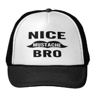 Bigote agradable Bro Gorra