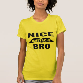 Bigote agradable Bro Camisetas