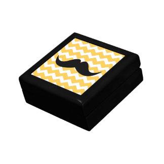 Bigote amarillo de la baratija del modelo de zigza cajas de regalo