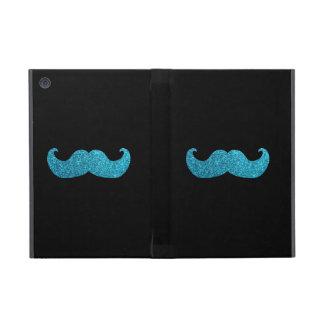 Bigote azul de Bling (falso gráfico del brillo) iPad Mini Cárcasa