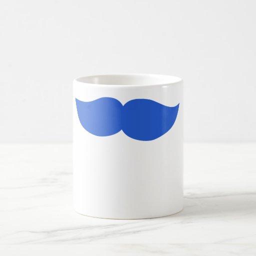 Bigote azul taza clásica