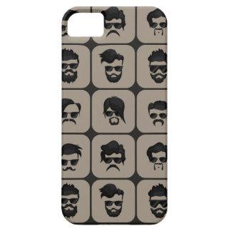 bigote, barba y peinado funda para iPhone SE/5/5s