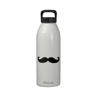 Bigote bigote negros del manillar botellas de agua reutilizables