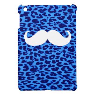 Bigote blanco divertido en el estampado leopardo 7 iPad mini protector