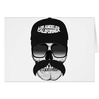 Bigote California del cráneo Tarjeta De Felicitación