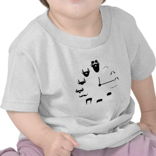 Bigote Clockface Camisetas