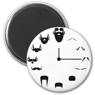 Bigote Clockface Imán Redondo 5 Cm