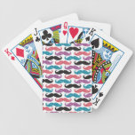 Bigote coloreado reluciente baraja de cartas