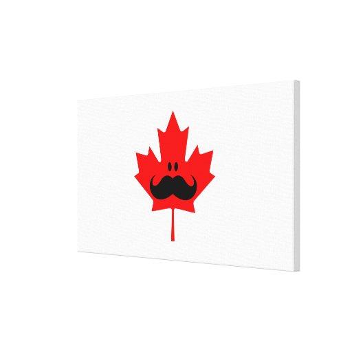 Bigote de Canadá - un bigote en arce rojo Impresion En Lona