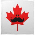 Bigote de Canadá - un bigote en arce rojo Servilleta