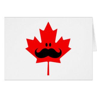 Bigote de Canadá - un bigote en arce rojo Tarjeta De Felicitación