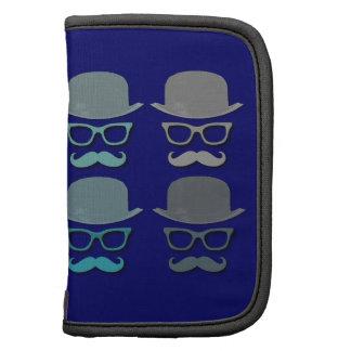 Bigote de cuatro colores, vidrios y gorra de Derby Planificadores