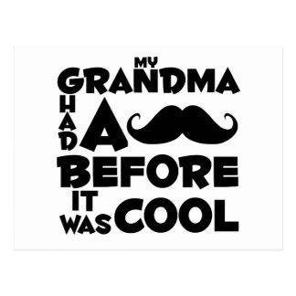 bigote de la abuela postal