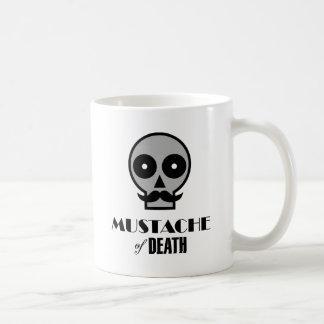 Bigote de la muerte taza básica blanca