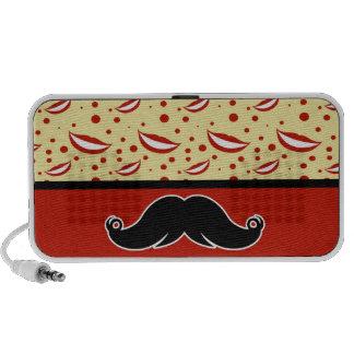 Bigote de moda Stache del bigote del manillar iPhone Altavoz