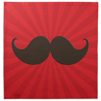 Bigote de moda Stache del bigote del manillar Servilleta Imprimida