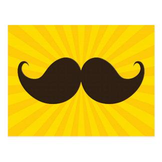 Bigote de moda Stache del bigote del manillar Tarjetas Postales
