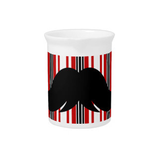 Bigote de moda Stache w/Stripes del bigote Jarra De Beber