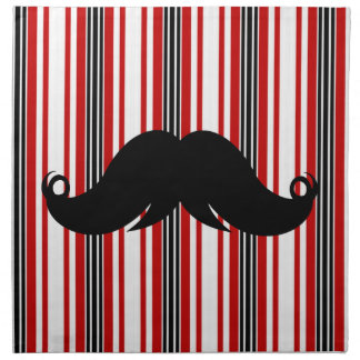 Bigote de moda Stache w/Stripes del bigote Servilleta